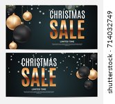 christmas and new year sale...   Shutterstock .eps vector #714032749