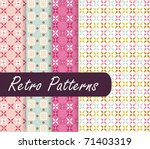 blossom retro patterns | Shutterstock .eps vector #71403319