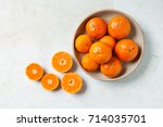 Dish Of Clementines With Slice...