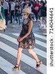 tokyo  japan   september 11th ... | Shutterstock . vector #714044641
