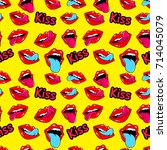 female lips. mouth with a kiss