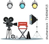 Film Directors Chair With...