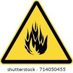 warning fire sign | Shutterstock .eps vector #714050455