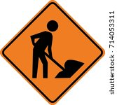 men working sign | Shutterstock .eps vector #714053311