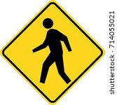 people crossing sign | Shutterstock .eps vector #714055021