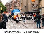 strasbourg  france   sept 12 ... | Shutterstock . vector #714055039
