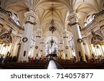 guadalajara cathedral  jalisco  ... | Shutterstock . vector #714057877
