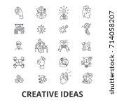 creative ideas  innovation ... | Shutterstock .eps vector #714058207