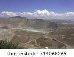 Large Gold Copper And Ore Pit...