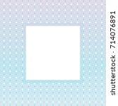 white square frame on light... | Shutterstock .eps vector #714076891