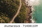 aerial view of great ocean road ...   Shutterstock . vector #714081109