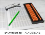 mental arithmetic blurred... | Shutterstock . vector #714085141