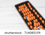 mental arithmetic blurred... | Shutterstock . vector #714085159