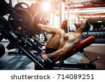 man using a press machine in a... | Shutterstock . vector #714089251