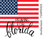 praying for florida text on... | Shutterstock .eps vector #714095425