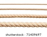 Stock photo ropes isolated on white 71409697
