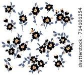 flower illustration object | Shutterstock .eps vector #714101254