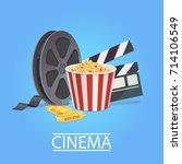 realistic art for cinema... | Shutterstock .eps vector #714106549