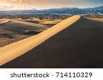 masplomas sand dunes at sunset...   Shutterstock . vector #714110329