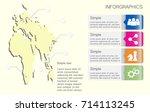 part of map timeline vector... | Shutterstock .eps vector #714113245