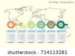 world map timeline vector... | Shutterstock .eps vector #714113281