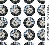 cute tire car style design...   Shutterstock .eps vector #714114667