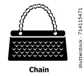 chain bag icon. simple... | Shutterstock .eps vector #714115471
