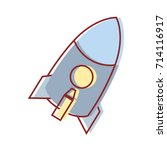 rocket technology to explore... | Shutterstock .eps vector #714116917