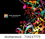 colorful music notes. vector... | Shutterstock .eps vector #714117775