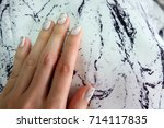 beautiful nail polish  manicure ... | Shutterstock . vector #714117835