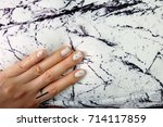 beautiful nail polish  manicure ... | Shutterstock . vector #714117859