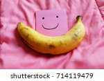 ripped banana  close up smile... | Shutterstock . vector #714119479