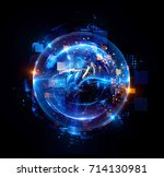 abstract background. luminous... | Shutterstock . vector #714130981