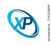 letter xp logotype design for... | Shutterstock .eps vector #714133849