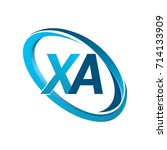 letter xa logotype design for... | Shutterstock .eps vector #714133909