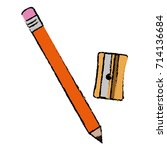 sharpenner school with pencil | Shutterstock .eps vector #714136684