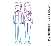 couple of business people | Shutterstock .eps vector #714140209