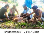 sandakan sabah malaysia   sept... | Shutterstock . vector #714142585
