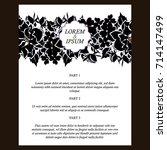romantic invitation. wedding ...   Shutterstock . vector #714147499