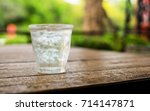 Ice In A Glass Of Water On A...