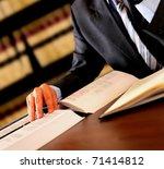 attorney reading   Shutterstock . vector #71414812