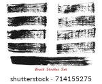 grungy brush strokes set over... | Shutterstock .eps vector #714155275
