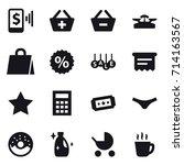 shopping icon set | Shutterstock .eps vector #714163567