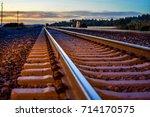 Railroad Tracks Leading Into...