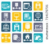 database and network icon set... | Shutterstock .eps vector #714170731