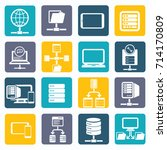 database and network icon set... | Shutterstock .eps vector #714170809