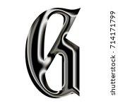shiny black chrome metal... | Shutterstock . vector #714171799