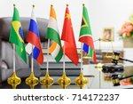 brics economy and policies... | Shutterstock . vector #714172237