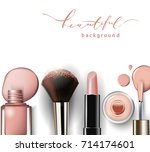 cosmetics and fashion... | Shutterstock .eps vector #714174601