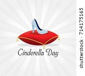 cinderella day vector...   Shutterstock .eps vector #714175165